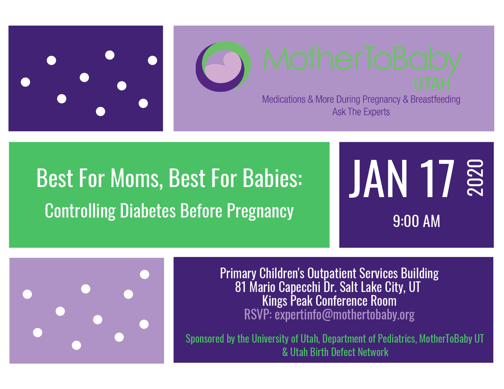 Best for Moms, Best for Babies: Controlling Diabetes Before Pregnancy Invitation.